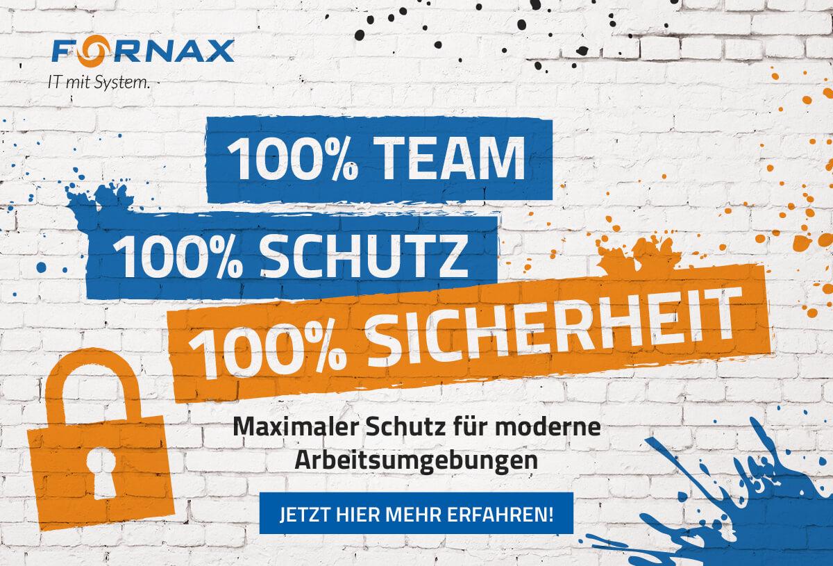 100% Team. 100% Schutz. 100% Sicherheit.